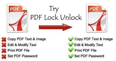 Inlatura restrictiile si decripteaza parolele fisierelor PDF cu PDF Unlocker